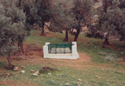 Picture of Rupert Brooke's grave on Skyros